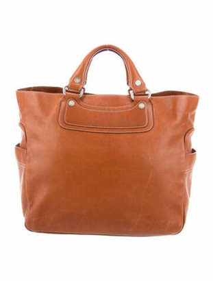 Celine Leather Tote Bag Brown