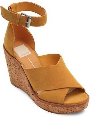 Dolce Vita Urbane Suede Wedge Sandals