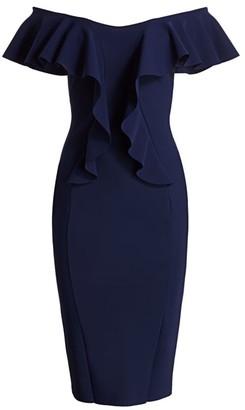 Chiara Boni Sido Off-The-Shoulder Dress