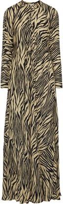 Nicholas Tiger-print Silk Crepe De Chine Maxi Dress
