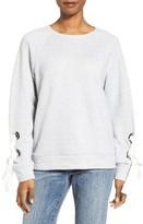 Petite Women's Halogen Tie Sleeve Sweatshirt