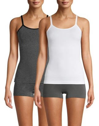Real Comfort Women's and Women's Plus Linda Seamless Shaping Camisole, 2-Pack