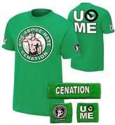 Freeze John Cena Boys Salute Cenation Kids WWE Costume T-shirt Wristbands-XL (14-16)