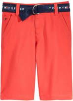 Tommy Hilfiger Belted Shorts, Little Boys