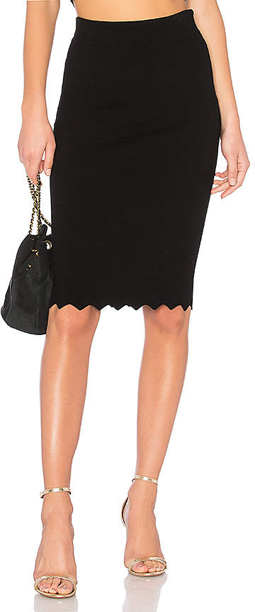 Milly Pointed Scallop Fitted Skirt