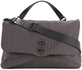 Zanellato foldover large zig-zag tote - men - Leather - One Size