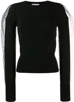 RED Valentino Point D'esprit Tulle Jumper