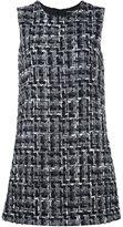 Dolce & Gabbana bouclé shift dress - women - Silk/Cotton/Acrylic/Wool - 48