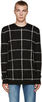 McQ by Alexander McQueen Black Grid Sweater