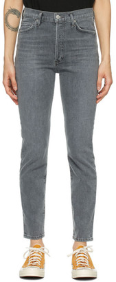 Citizens of Humanity Grey Olivia High-Rise Slim Jeans