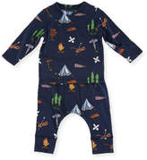 Stella McCartney Georgie + Macy Campsite Tee & Matching Leggings Set, Size 12-36 Months
