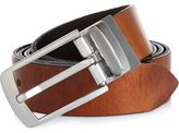 River Island MensBrown reversible Italian leather belt