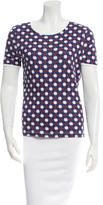 Carven Printed Short Sleeve Top
