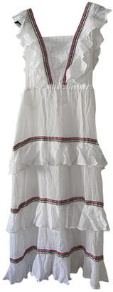 Pitusa White Cotton Dress for Women