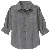 Gymboree Warm Gray Button-Up - Boys