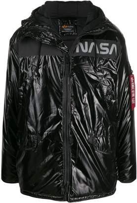 Alpha Industries 'Nasa' print padded jacket