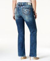 Silver Jeans Plus Size Suki Indigo Wash Bootcut Jeans