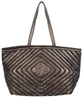 Black Rivet Womens Luna Patterned Faux-Leather Tote
