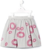 Il Gufo circle jacquard skirt - kids - Polyester/Acetate/Cupro - 8 yrs