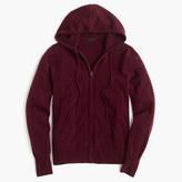 J.Crew Italian cashmere zip-front hoodie