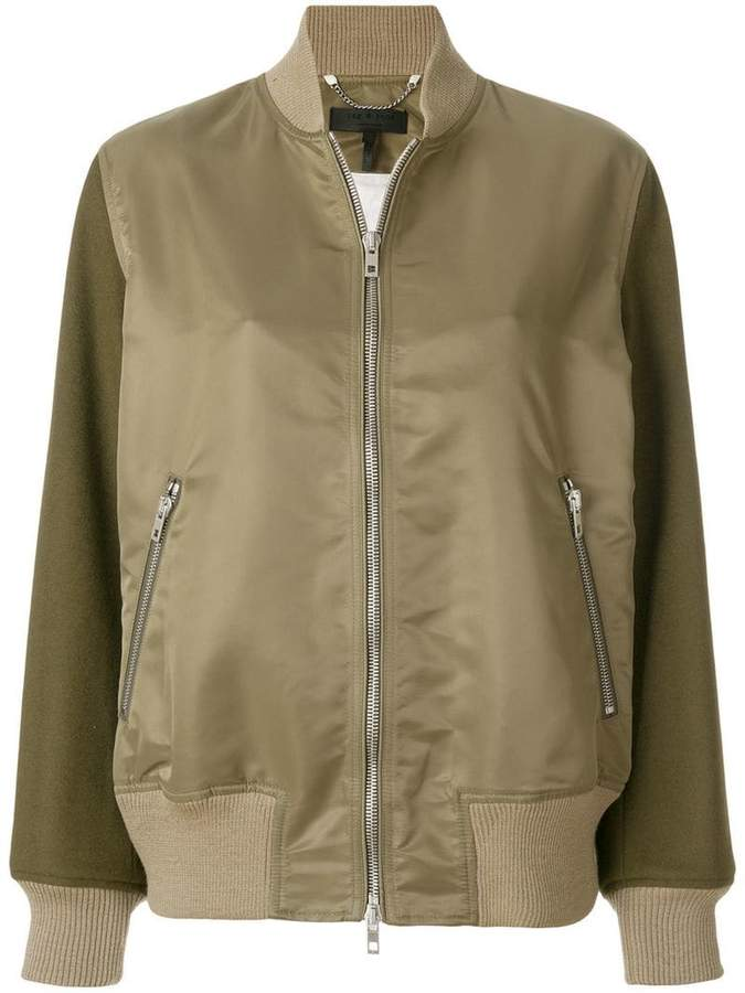 Rag & Bone contrasting sleeves bomber jacket