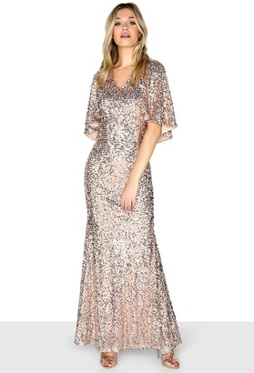Little Mistress Gold Cape Maxi