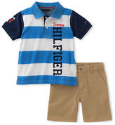 Tommy Hilfiger Two-Piece Rugby Striped Polo and Shorts Set