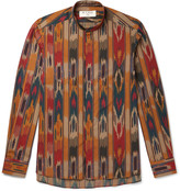 Etro - Grandad-collar Printed Cotton-poplin Shirt