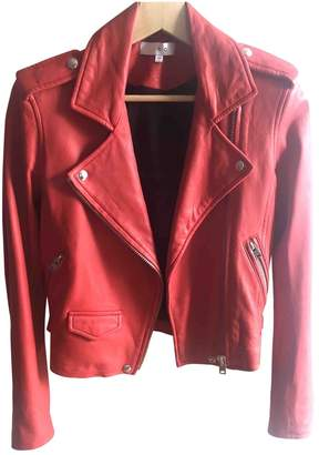 IRO Spring Summer 2018 Red Leather Jackets
