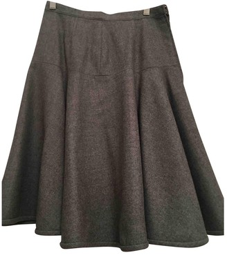 Valentino Grey Wool Skirt for Women Vintage