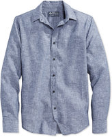 American Rag Men's Long-Sleeve Linen Shirt, Only at Macy's