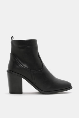 Ardene Pointy Faux Leather Booties - Shoes |