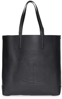 Burberry Large Embossed Monogram Motif Leather tote