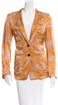 Dries Van Noten Printed Notched Lapel Blazer w/ Tags