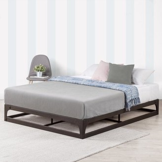 Best Price Mattress Mellow Ace of Base - 9 Inch Hinged Metal Platform Bed with Heavy Duty Steel Slats, Black