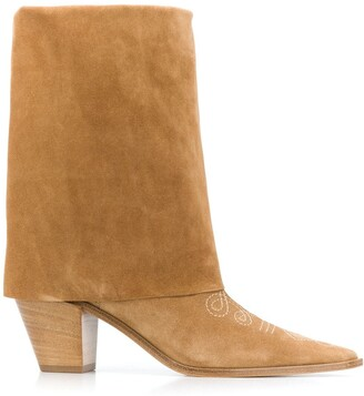 Casadei Contrast Stitch Boots