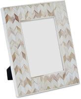 Regina-Andrew Design 5x7 Chevron Bone Picture Frame, Beige