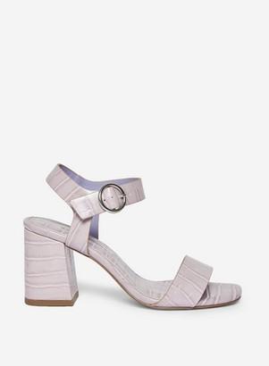 Dorothy Perkins Womens Lilac 'Scorpio' Crocodile Design Sandals
