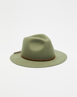 Brixton Neutrals Hats - Wesley Packable Fedora - Size S at The Iconic