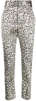 Haider Ackermann geometric print straight leg trousers