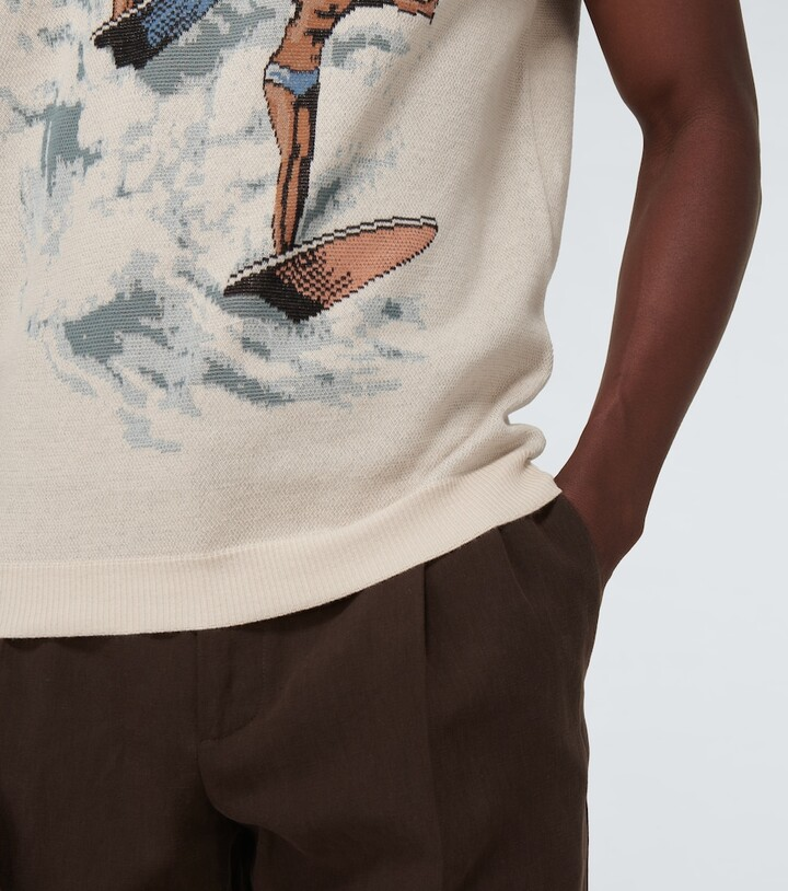 Thumbnail for your product : Casablanca Les Garcons jacquard knitted T-shirt