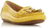 Dune London Geena Gold Hardware Detail Moccasins