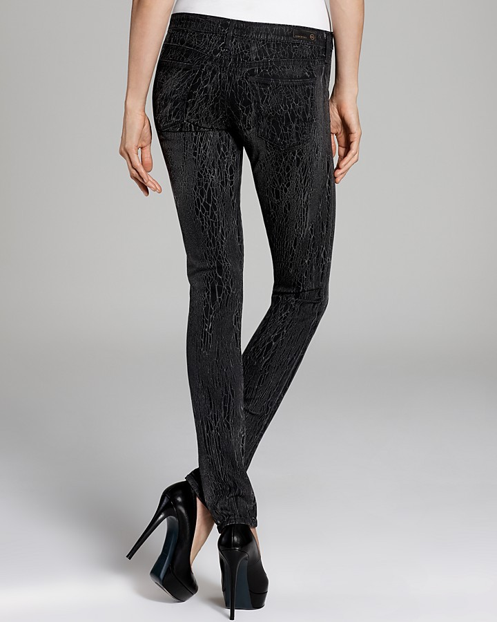 AG Adriano Goldschmied Jeans - The Legging in Black Shatter