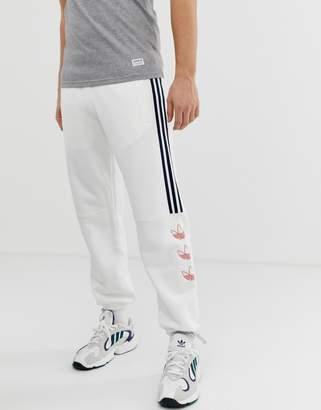 adidas Trefoil Stripe Joggers DV3148 White