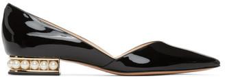 Nicholas Kirkwood Black Patent Casati DOrsay Ballerina Flats