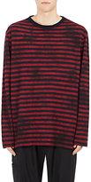 Yohji Yamamoto Men's Striped Wool-Blend Long-Sleeve T-Shirt