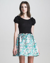 RED Valentino A-Line Floral-Print Skirt