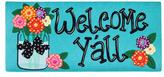 Evergreen Flower Welcome Mat