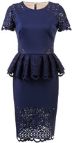 Marchesa peplum laced dress