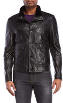 Versace Real Fur Trim Leather Jacket